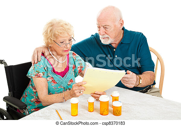 Senior Couple - Medical Bills - csp8370183