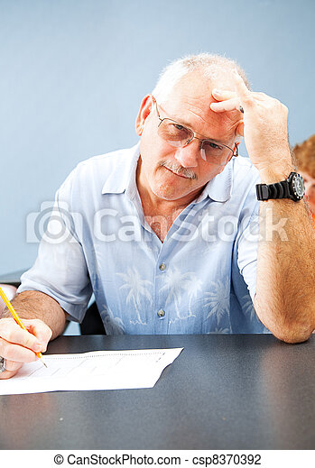 Middle Aged Student - Frustrated - csp8370392