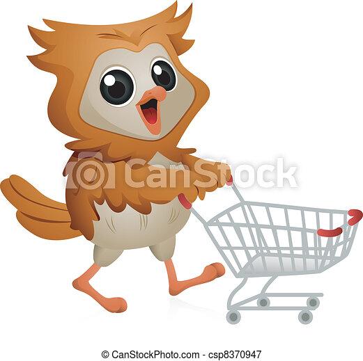 Shopper Owl - csp8370947
