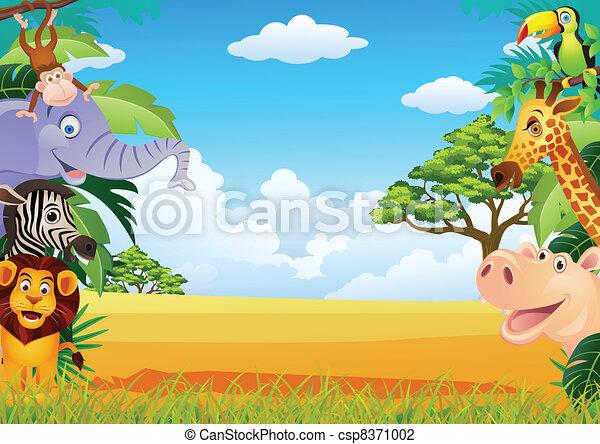 animal cartoon - csp8371002