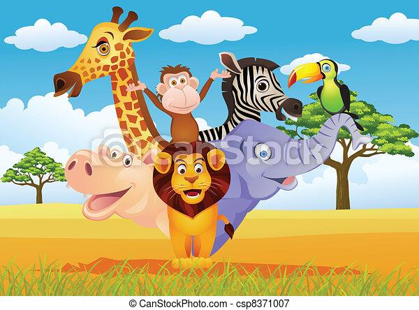 Animal carton - csp8371007