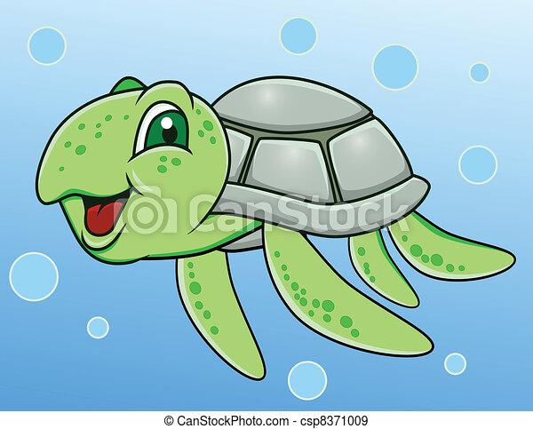 Turtle cartoon - csp8371009