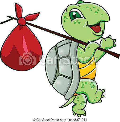 tortuga, caricatura - csp8371011