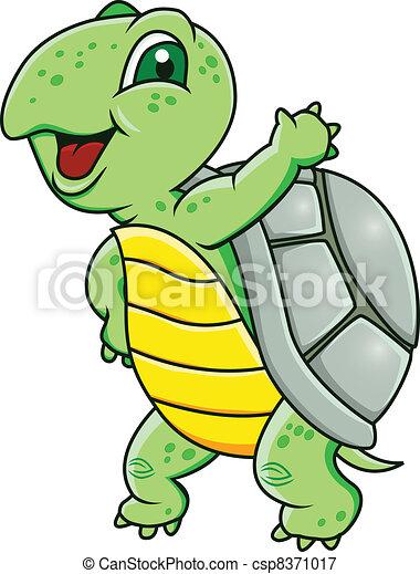 Turtle cartoon - csp8371017