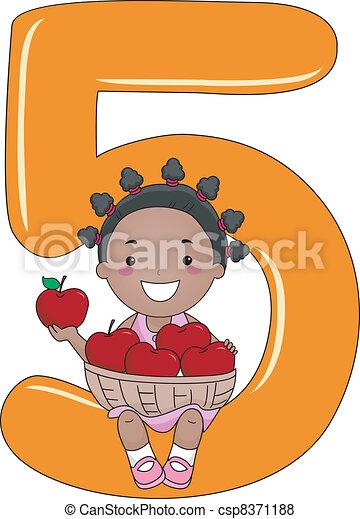 Number Kid 5 - csp8371188
