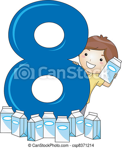 Number Kid 8 - csp8371214