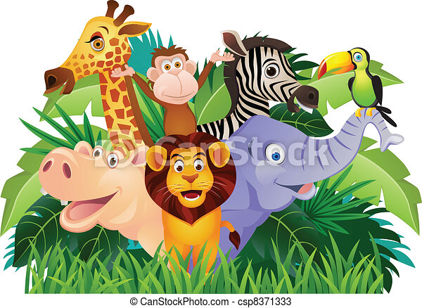 Animal cartoon - csp8371333