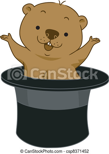 Groundhog Vector Clipart Royalty Free. 452 Groundhog clip art ...