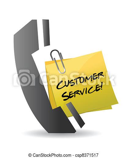 customer service phone concept - csp8371517