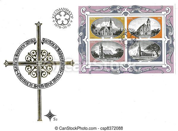 Stamp 1st Day Issue SWA Churches 1978 - csp8372088