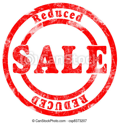 Sale reduced Stamp - csp8373207
