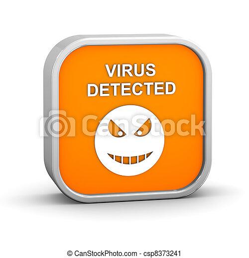 Virus Detected Sign - csp8373241