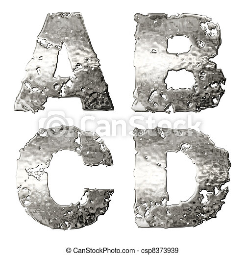 Metallic alphabet. - csp8373939