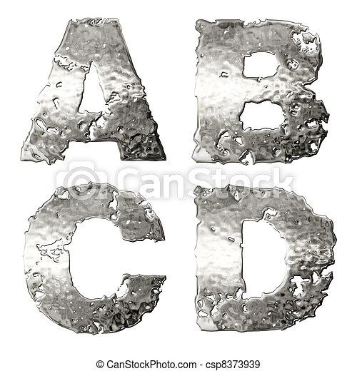 Metallic alphabet. - csp8373939