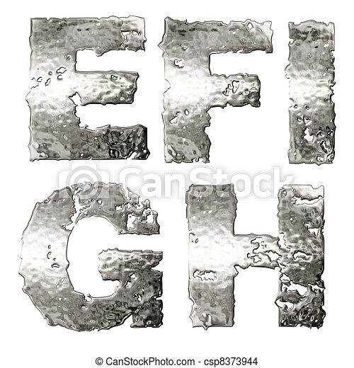 Metallic alphabet. - csp8373944