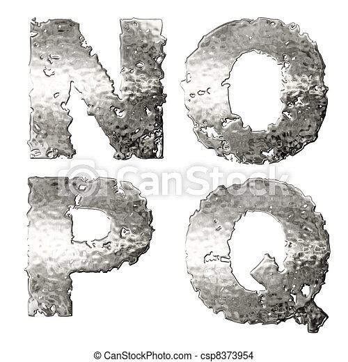 Metallic alphabet. - csp8373954