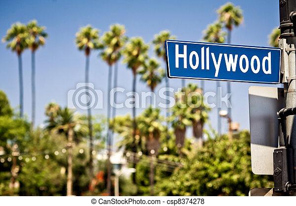Hollywood sign in LA - csp8374278