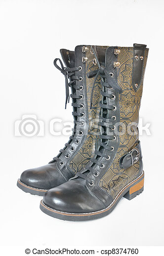 leather women's boots - csp8374760
