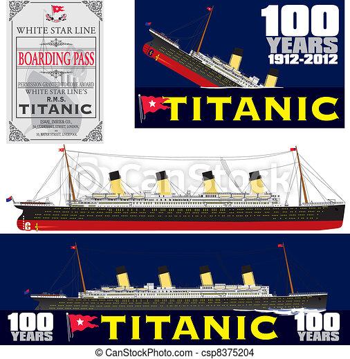 Titanic 100 Years Anniversary  - csp8375204