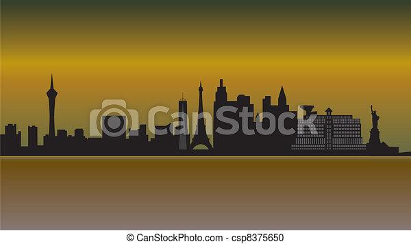 las vegas skyline desert - csp8375650