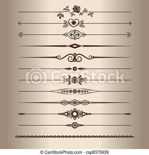 Decorative lines - csp8375939