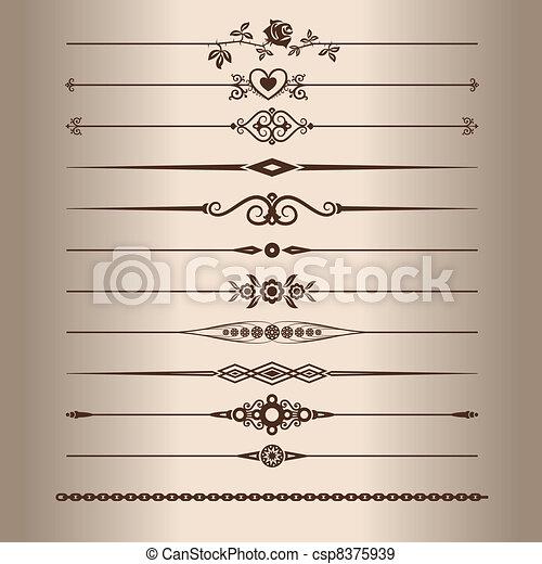 Decorative lines - csp8375939