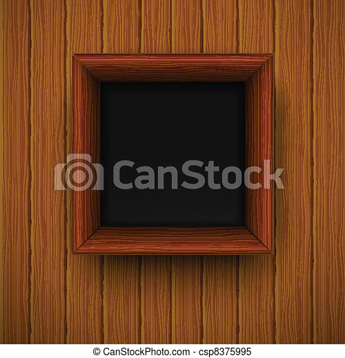 Wooden framework. Vector illustration  - csp8375995