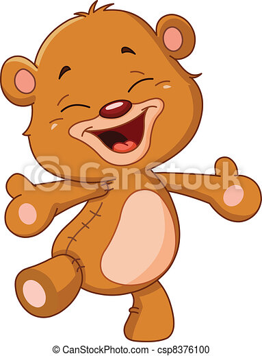 Cheerful teddy bear - csp8376100