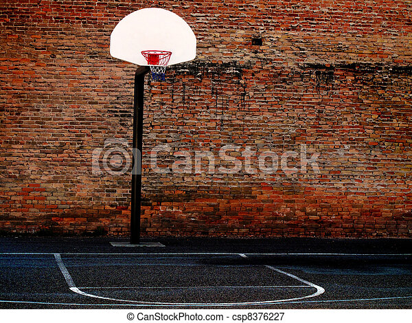 Urban Basketball Court - csp8376227
