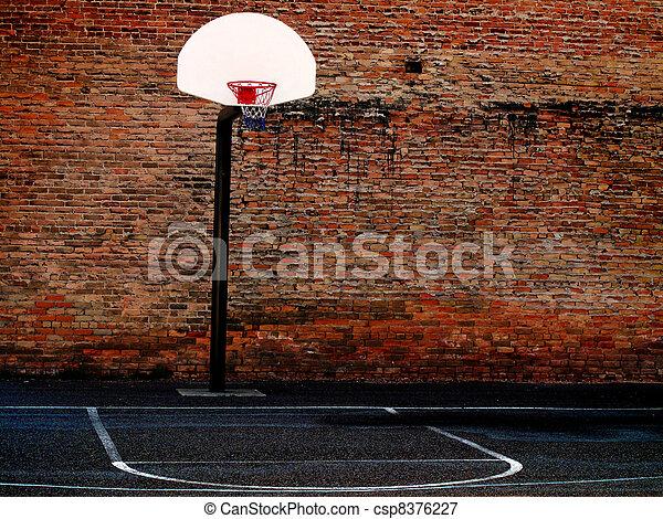 Urban Basketball Court - csp8376227
