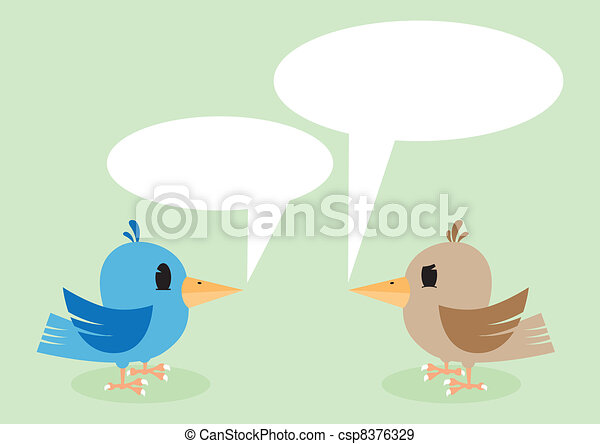 Two birds talking - csp8376329