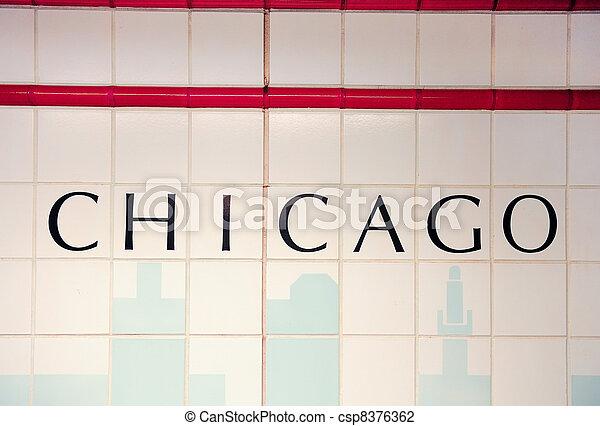 Chicago Subway Station - csp8376362