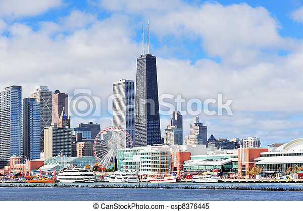 Chicago city downtown - csp8376445