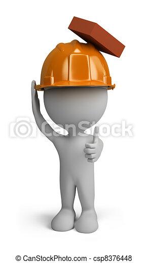 3d person - builder - csp8376448