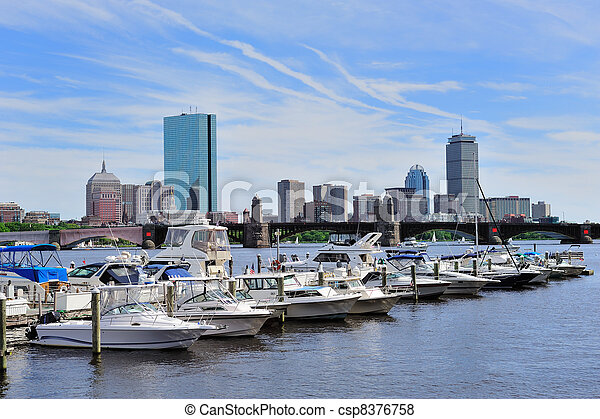 Urban cityscape in Boston - csp8376758