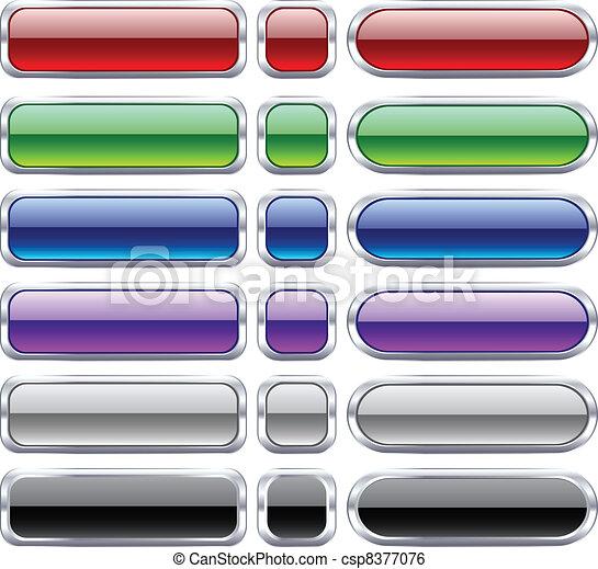 Bar blank buttons. - csp8377076