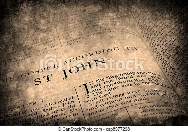 Bible New Testament St. John - csp8377238