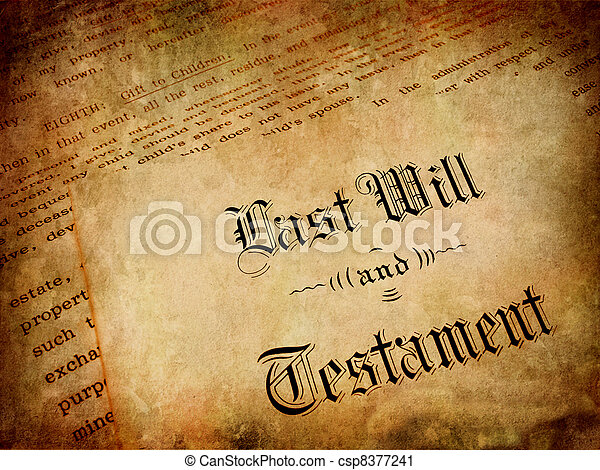 Last Will and Testament - csp8377241