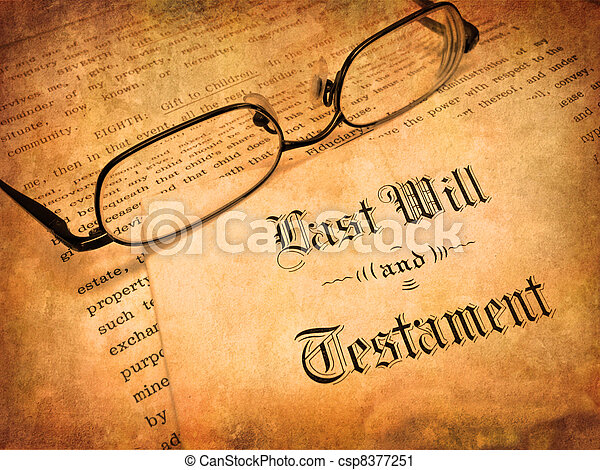 Last Will and Testament - csp8377251