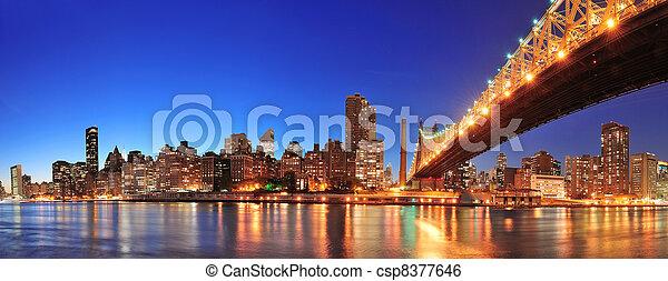 Queensboro Bridge and Manhattan - csp8377646