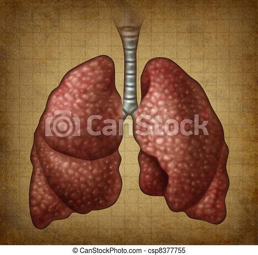 Grunge Human Lungs - csp8377755