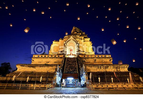 Wat Chedi Luang - csp8377824