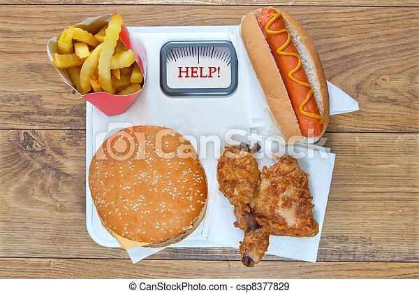Fast food diet - csp8377829