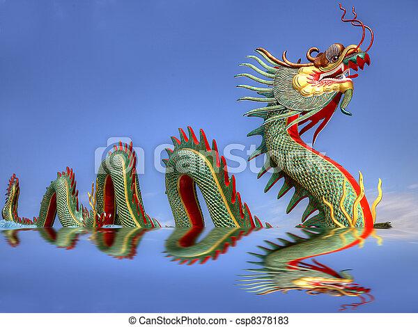 Giant Chinese dragon  - csp8378183