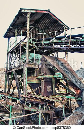 Abandoned mine shaft - csp8378360
