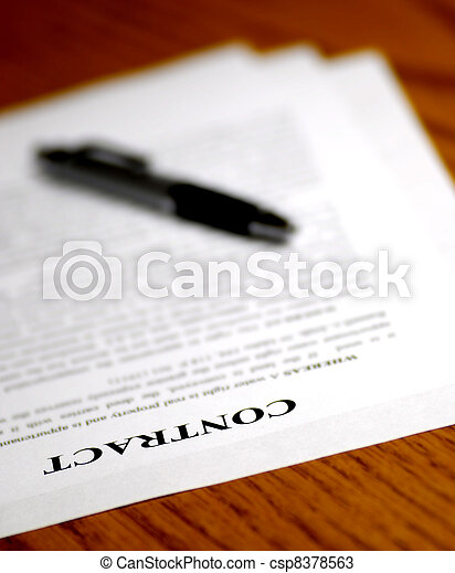 Signing Contract - csp8378563