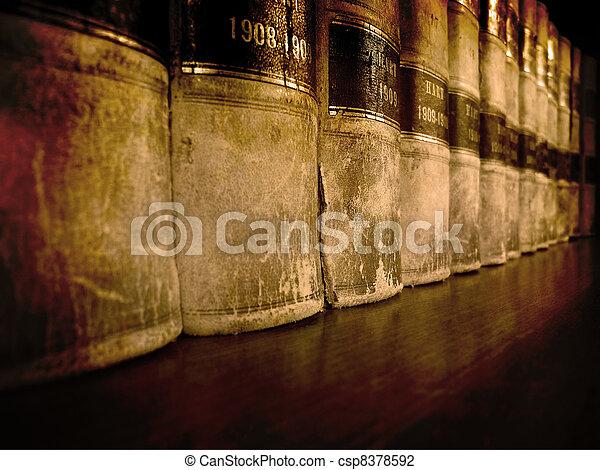 Law Books on Shelf - csp8378592