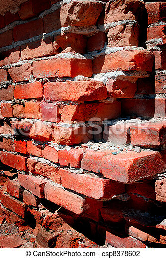 Detail of Old Brick Wall - csp8378602