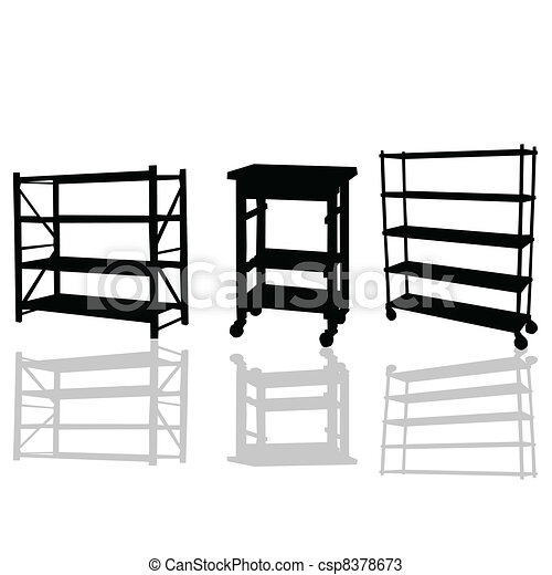 shelves vector illustration - csp8378673