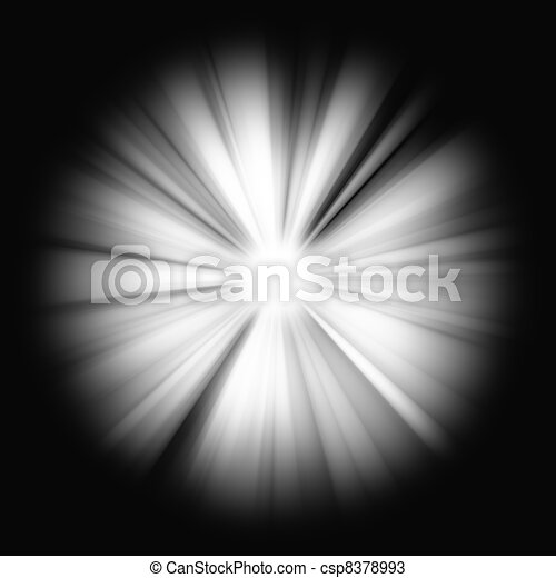 Abstract Beams of Light on black - csp8378993